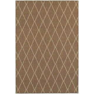 Stylehaven Lattice Brown Sand Indoor Outdoor Area Rug 9 10x12 10 9 10 X 12 10 Outdoor Area Rugs Indoor Outdoor Rugs Polypropylene Rugs
