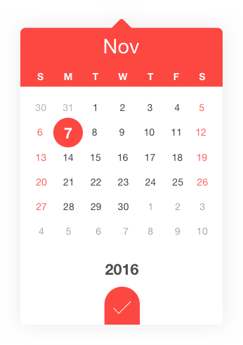 datedropper is the smallest and powerful jQuery UI datepicker that