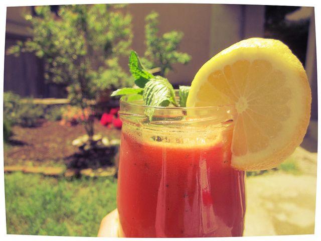 Lemon and watermelon juice