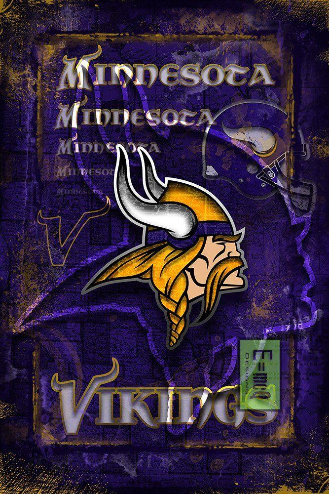 Minnesota Vikings Sports Poster Minnesota Vikings Artwork
