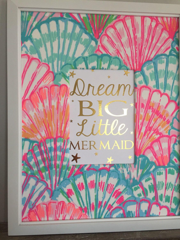 Lilly Pulitzer Nursery Decor, Lilly Pulitzer Shello, Mermaid Nursery,  Mermaid Bedroom Decor,
