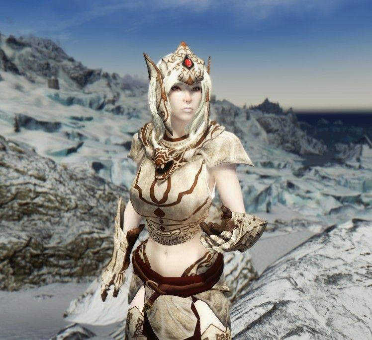 Snow Elf Follower Mirielle CBBE UNP UNPB 7Base at Skyrim Nexus