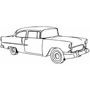 Classic Typical Car Coloring Sheet  Auto  Pinterest  Classic