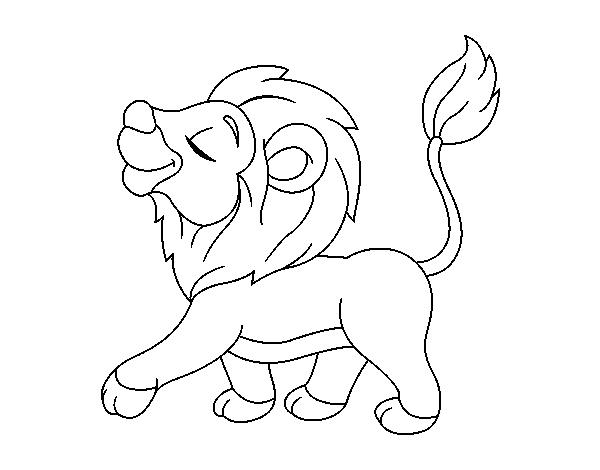 Dibujo de Cachorro de len para colorear  Dibujos de Animales