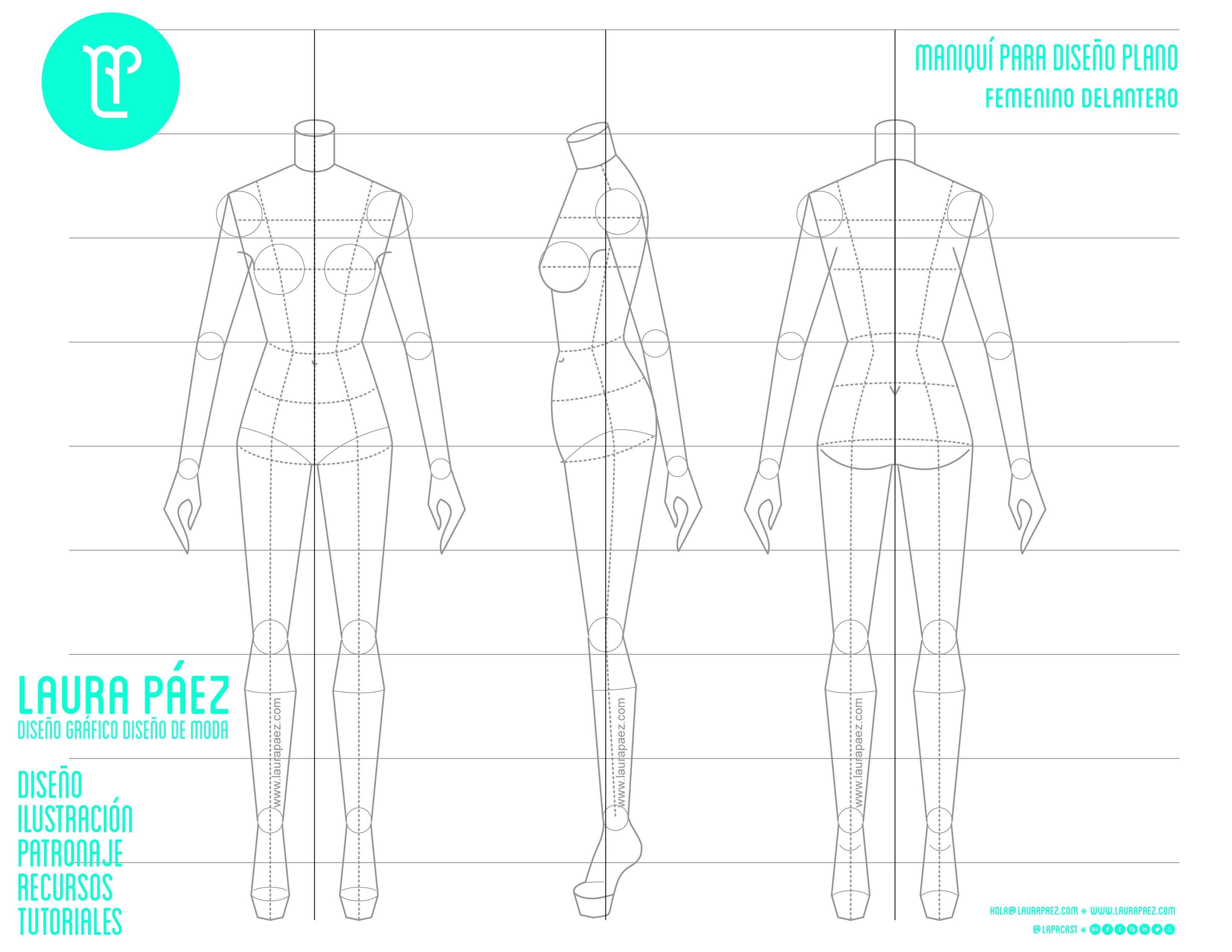 Maniquí Femenino para diseño plano | ilustraciones estiludas ...
