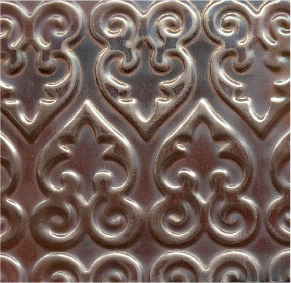 Handmade Embossed Copper Sheet Metal Venetian By Sunstones 12 00 Sheet Metal Roofing Copper Sheets Metal Tins