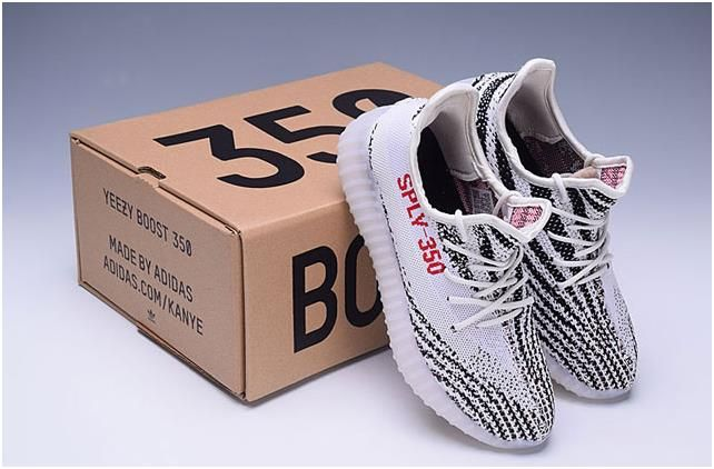 f6f9aaec8 Adidas Yeezy Boost 350 V2 Couple casual shoes black White Red ...