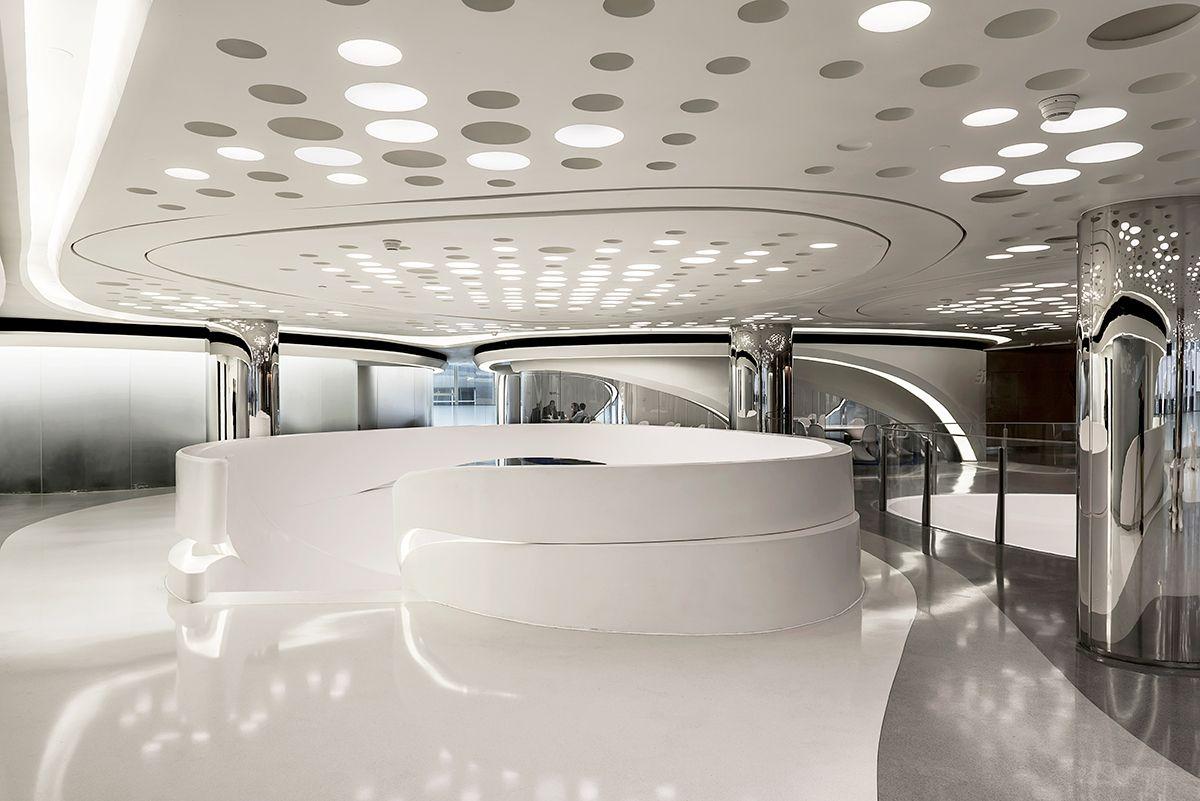 Architecture/Interior Zaha Hadid Futuristic interior