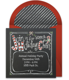Free Christmas Party Templates Invitations Amazing Online Invitations From  Holiday Recipes  Pinterest  Christmas .