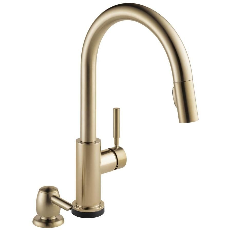 Delta Trask Touch2o Champagne Bronze 1 Handle Deck Mount Pull Down