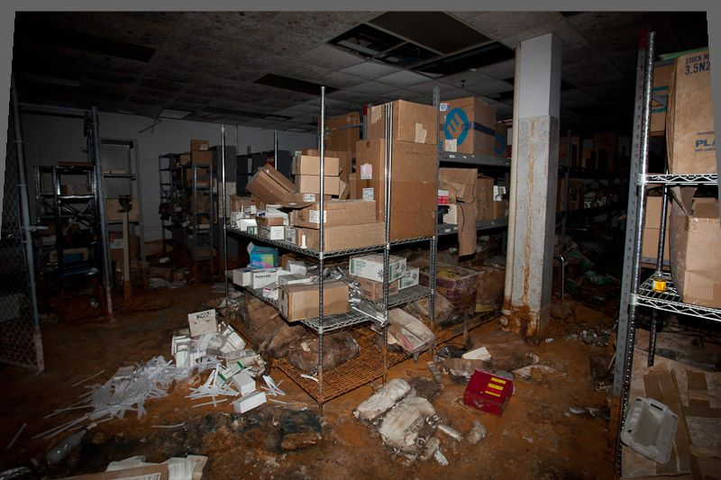 ec87e3530f3 Storage room full of medical supplies and equipment.   Detroit ...