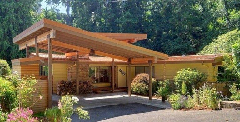 40 Best Mid Century House Ideas Look A More Modern Modern Carport Garage Design Carport Designs