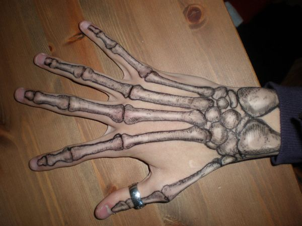 skeleton hand tattoo on pinterest aphrodite tattoo