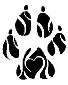 Tribal Dog Paw Print Remove The Heart Put Tripp In The