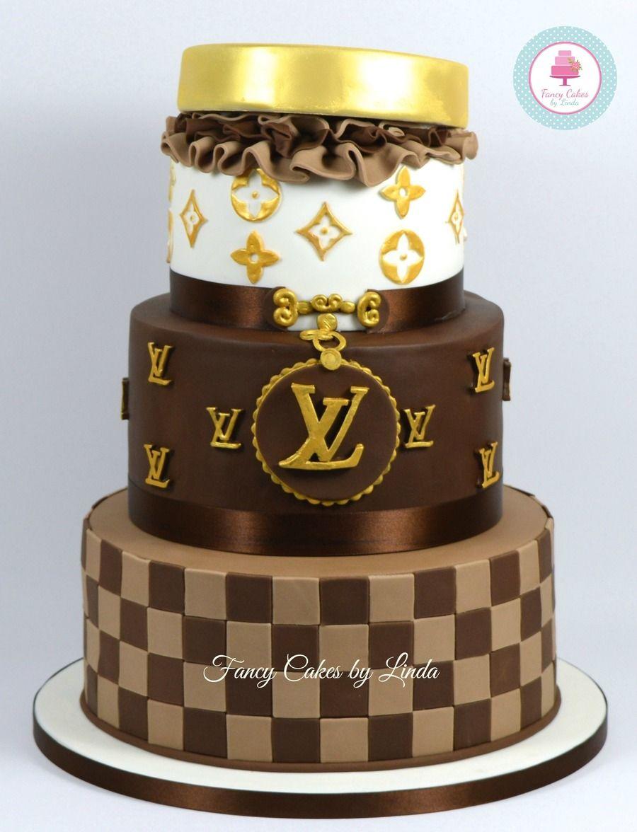 Louis Vuitton Birthday Cakes Lv Birthday Cake Cakes Pinterest