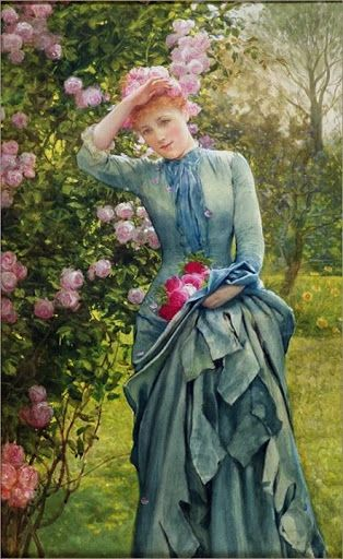 ⊰ Posing with Posies ⊱ paintings of women and flowers KD - creer sa maison en ligne