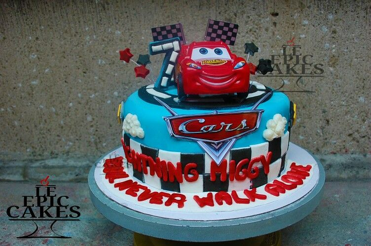 Disney Cars Lightning McQueen single layer cake
