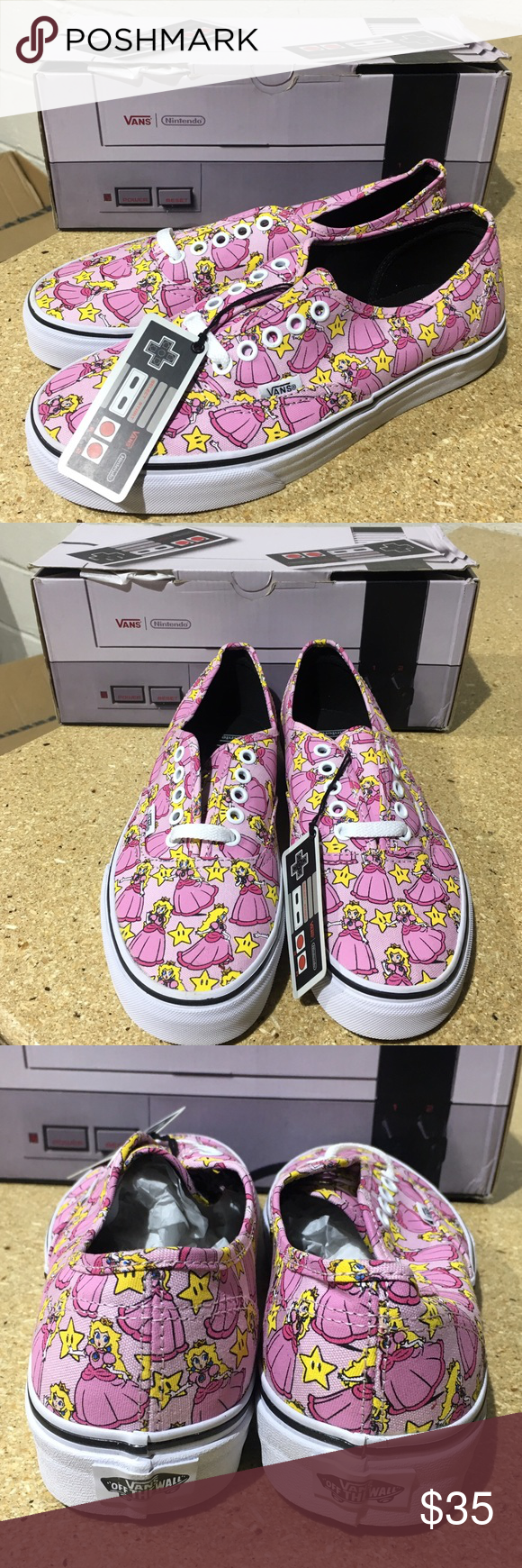 efb0d2b6c7 Vans X Nintendo Princess Peach Authentic s These limited Edition Vans  collaborating with Nintendo are the perfect collectors item that you can  even wear ...