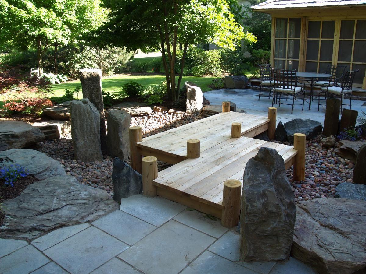 terrassengestaltung mit steingarten | around the house | pinterest ... - Stein Garten Design