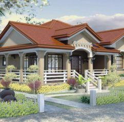 Foxy Bungalow House Designs Philippines One Story Plan Home Design Plans Mediterranean