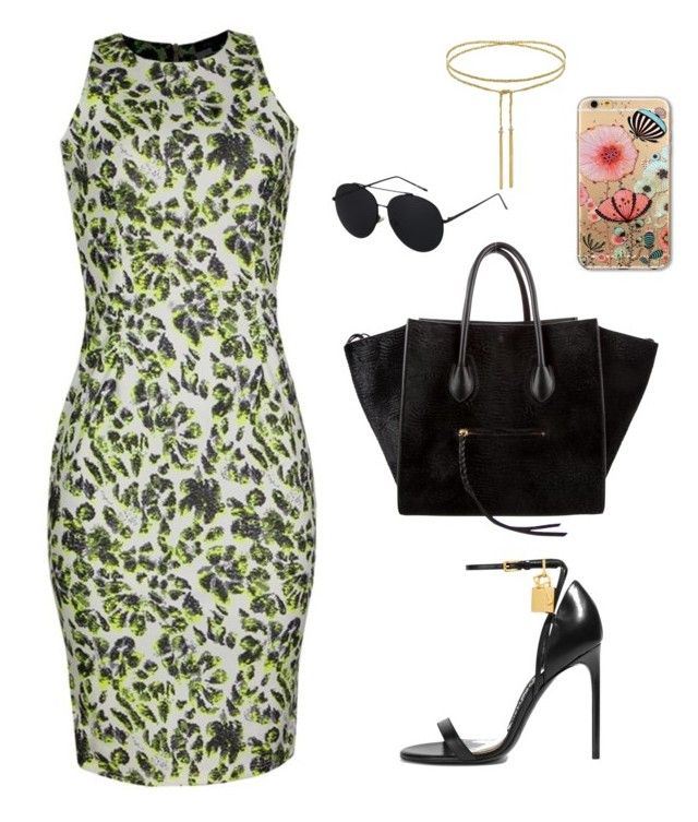 """""""Inighi Print Burst Dress"""" by eme-bassey on Polyvore featuring Tom Ford and CÉLINE"""