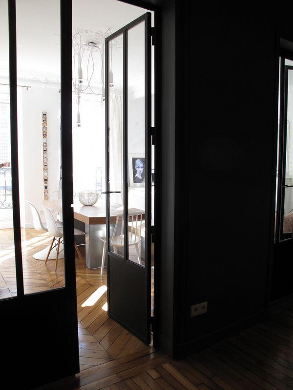Lu0027atelier du0027archi (10) porte salon - espace cuisine Maison - porte coulissante style atelier