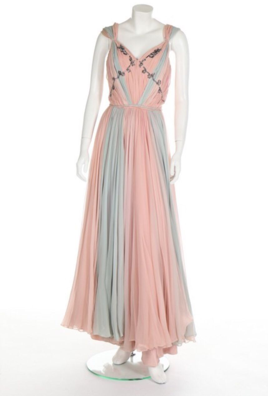Germaine Lecomte evening dress, early 1950′s | Romantic Clothing ...