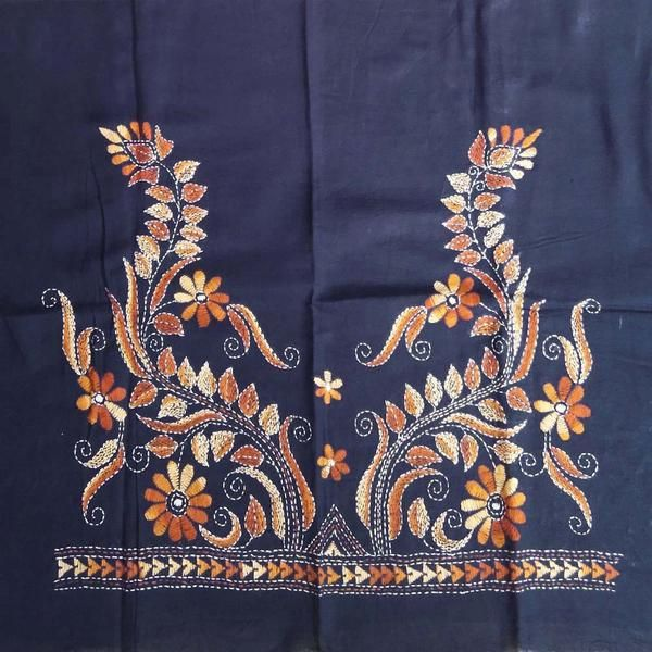 26e40746f8de4 Cotton Blouse fabric with Kantha work Cotton Blouses