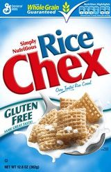 Gluten-Free rice chex cereal                                                                 The cereals are tested to contain fewer than 20 parts per million of gluten, but some people who are particularly sensitive to trace gluten report reactions to them.
