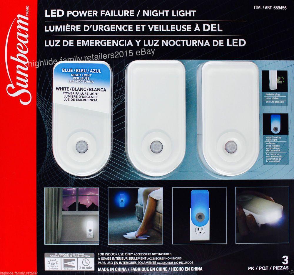 New 3 Pack Sunbeam Led Night Light Flashlight Rechargeable Motion Bin 2 Sunbeam Night Light Motion Sensor Lights Outdoor Led Night Light