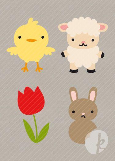 Springtime Cuties Die Cutting Files