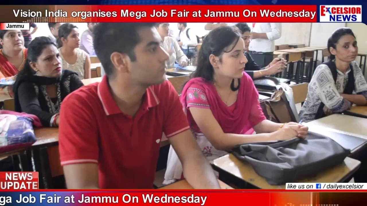 Vision India organises Mega Job Fair at Jammu On Wednesday