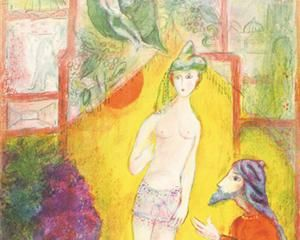 Then the boy was displayed to the Dervish... - Marc Chagall, 1948
