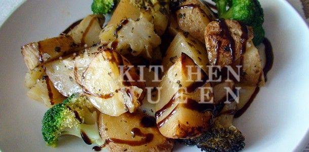Πατάτες φούρνου με μπρόκολα