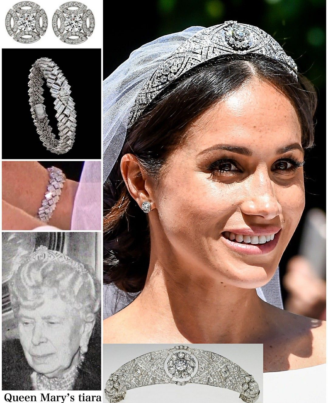 meghan s wedding tiara and jewelry for her wedding day royal jewelry royal jewels royal tiaras meghan s wedding tiara and jewelry for