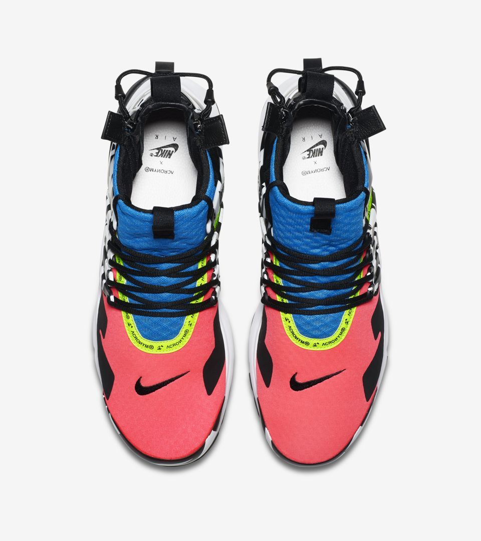c58c6c7692da45 Air Presto Mid Utility X Acronym  Racer Pink   Black   Photo Blue  Release  Date. Nike+ SNKRS
