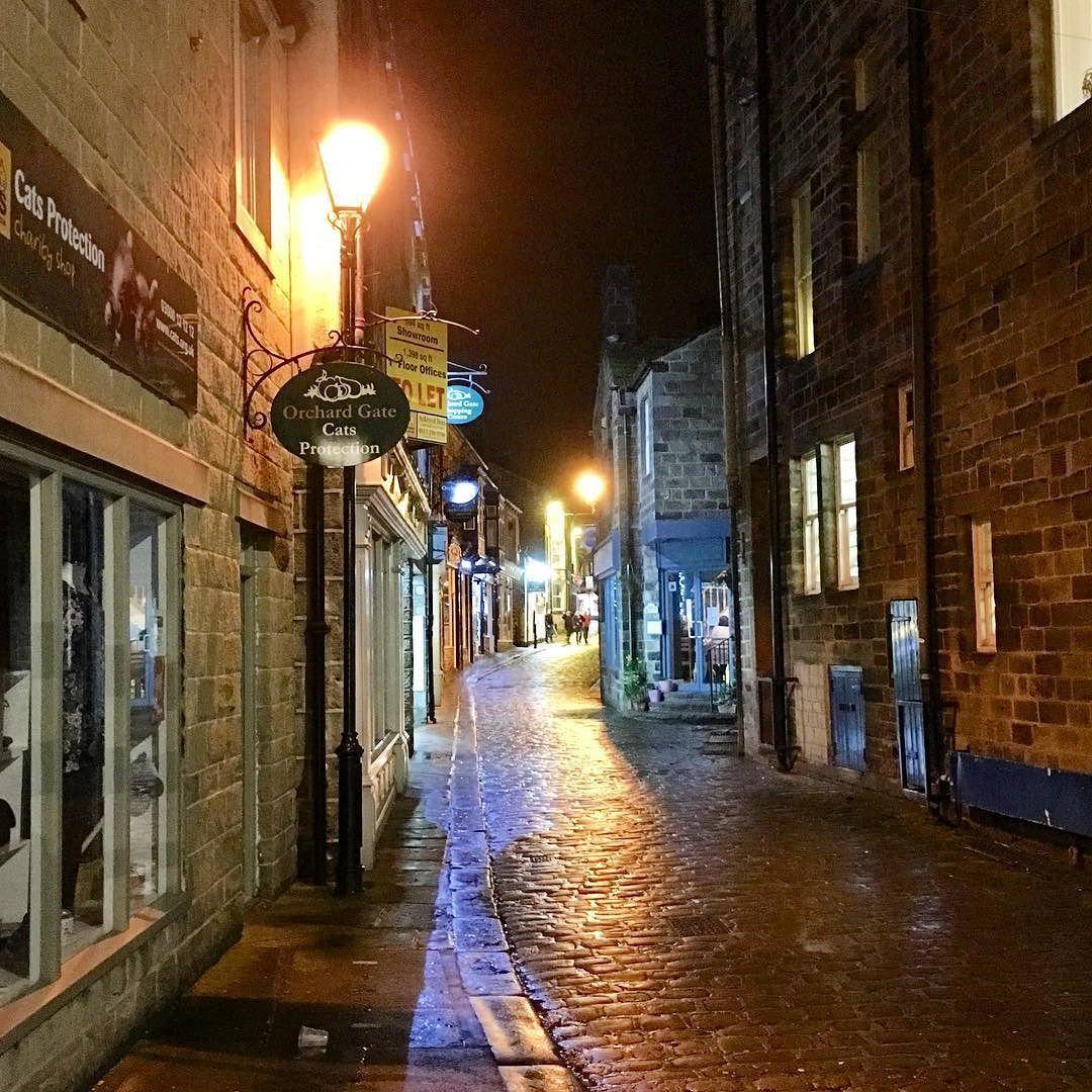 The #wet #cobbles Of Market #Street #Otley Last Night