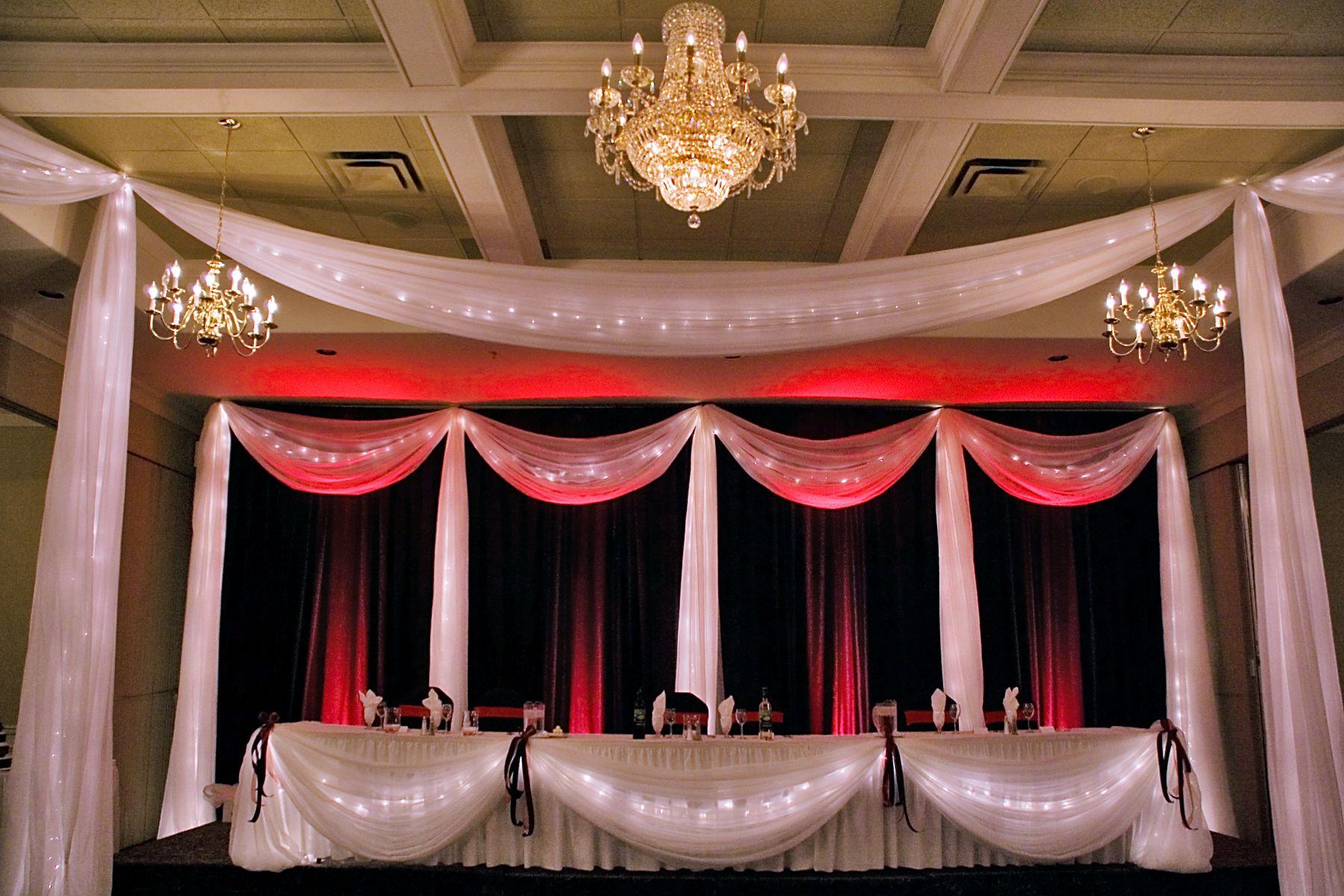 Manteo Resort Wedding Backdrop, Red And Black Backdrop, Dance Floor