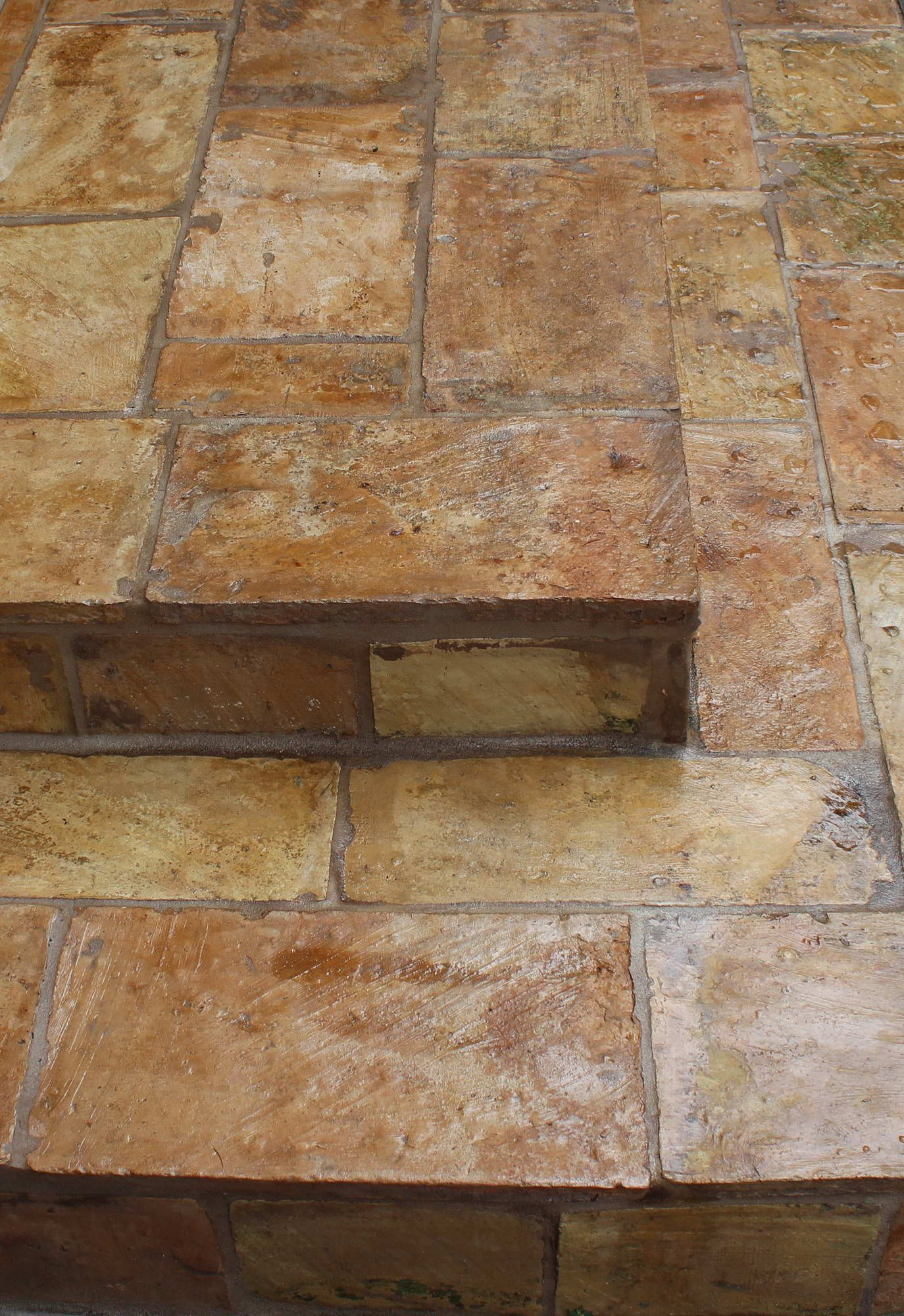Traditionsl Glazed Terra Cotta Floor Tile With Unique Brown