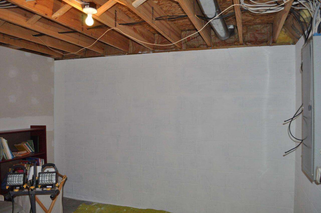Finishing Concrete Foundation Walls Hubs Should Read Concrete Basement Walls Finishing Basement Walls Painting Basement Walls