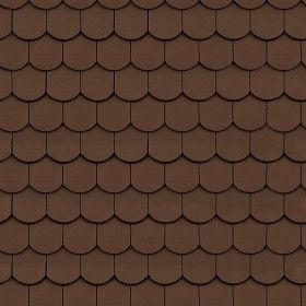Dark Brown Roof Tile Texture