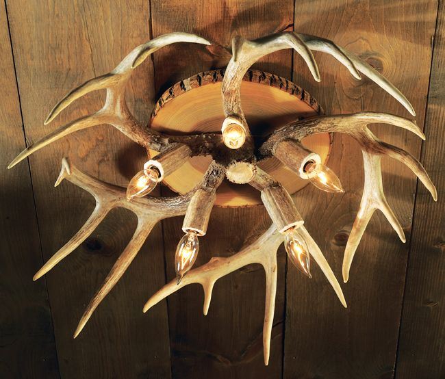 This Would Look Nice At The Cabin Antler Ceiling Light
