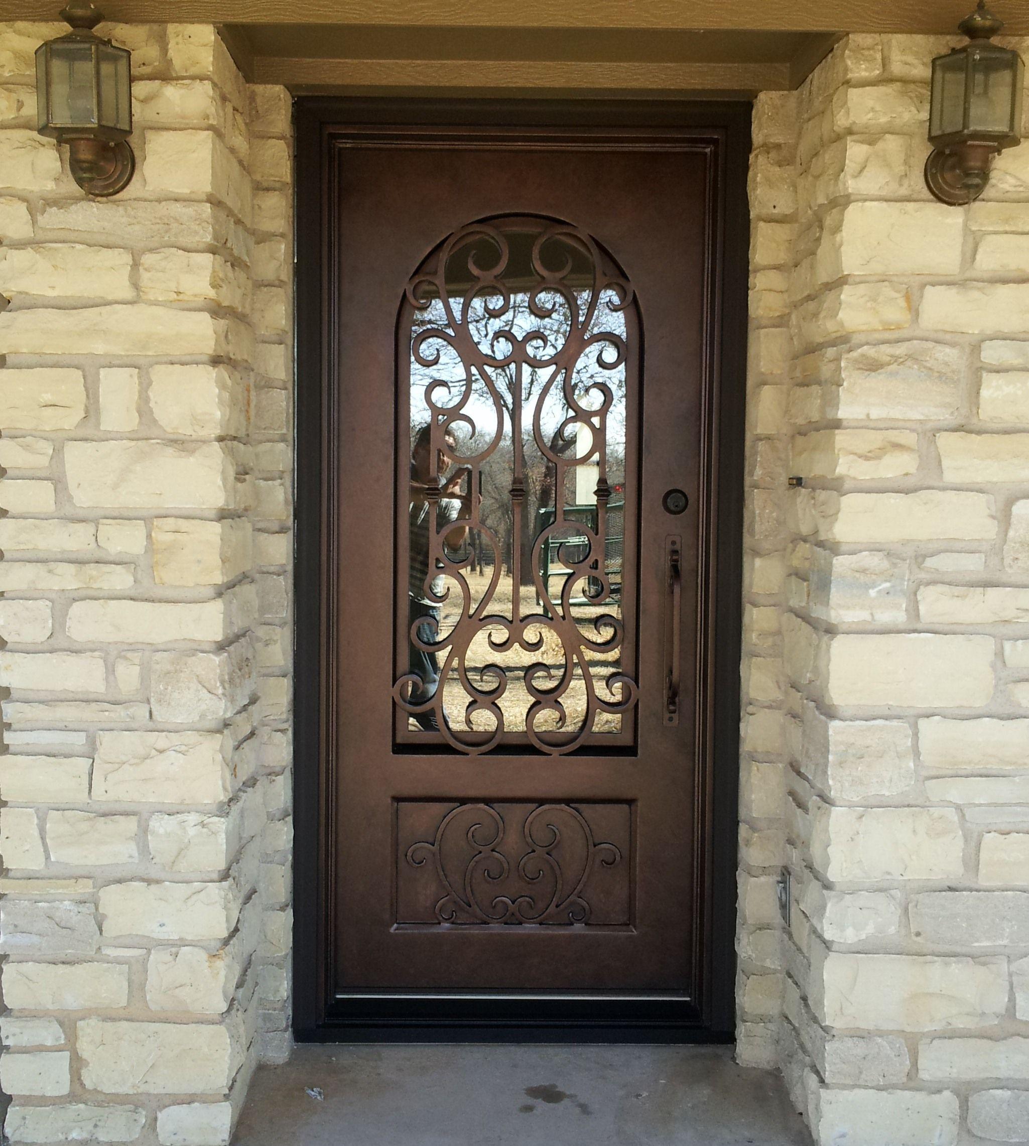 Custom Single Wrought Iron Door Aaleadedglass Com Wrought Iron