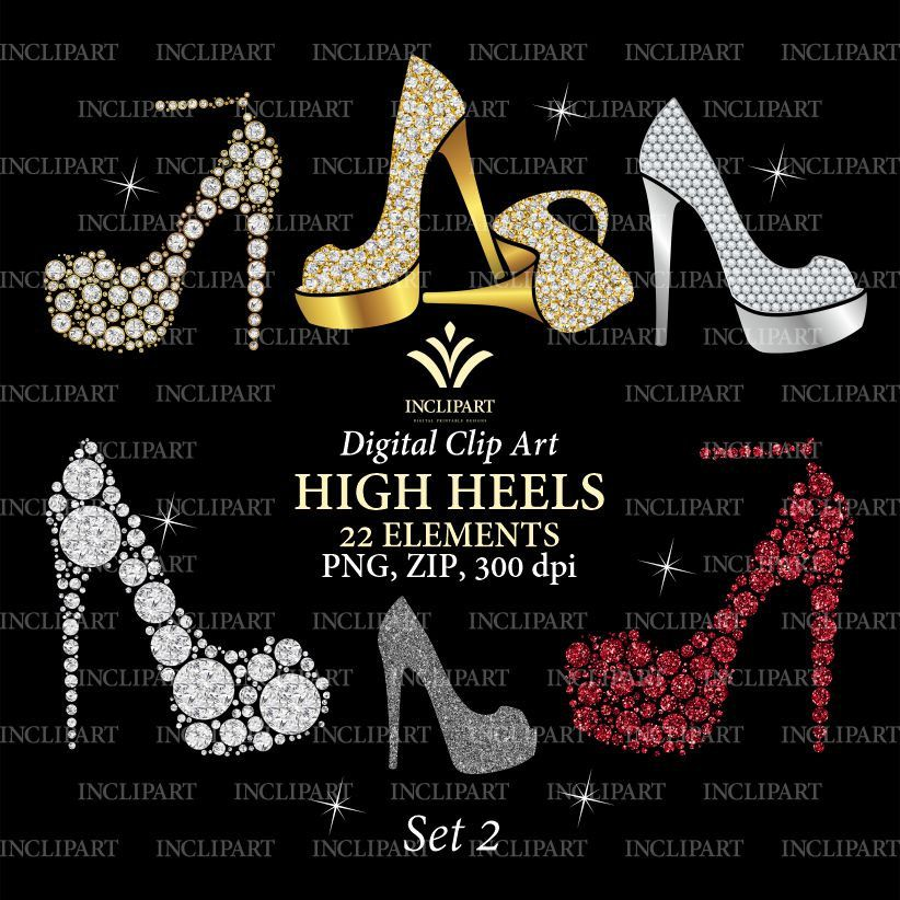 Shoe Clipart Png Format Ladies Girls Bridal High Heels Clipart Fashion Clipart Wedding Party Clipart Instant Download Business Use Clip Art Shoes Clipart Party Clipart
