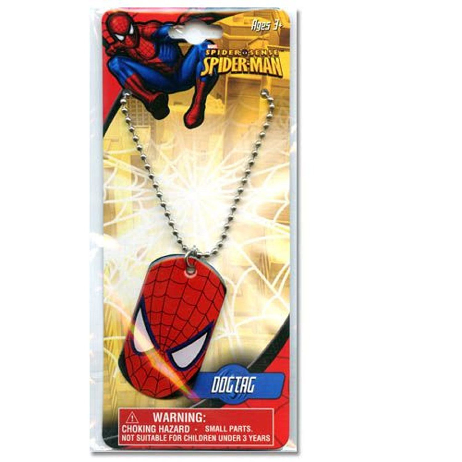 Amazon Com 12 Pack Spider Man Metal Dogtag Charm Necklaces Toys