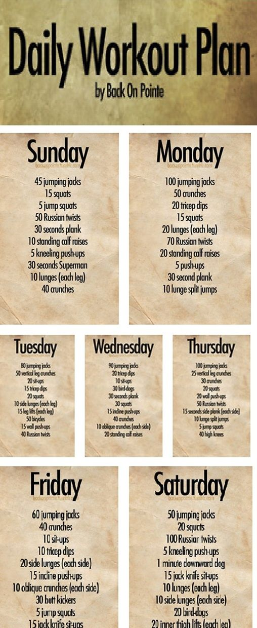 Back On Pointe  A Daily Exercise Plan Do These Exercises