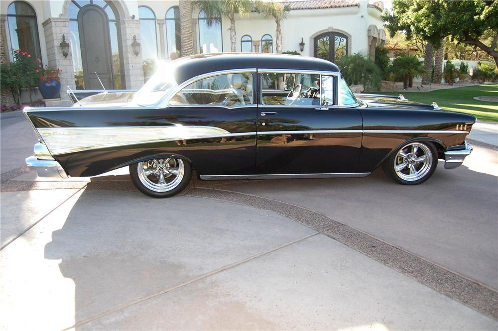 1957 Chevrolet Bel Air 2 Door Custom Hardtop Side Profile 91043 Chevrolet Bel Air 1957 Chevrolet Chevrolet