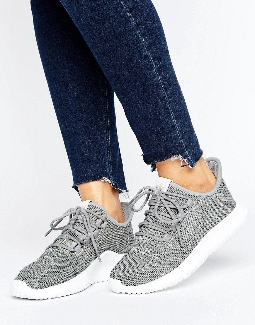 Buy it now. adidas Originals Grey Tubular Shadow Knit