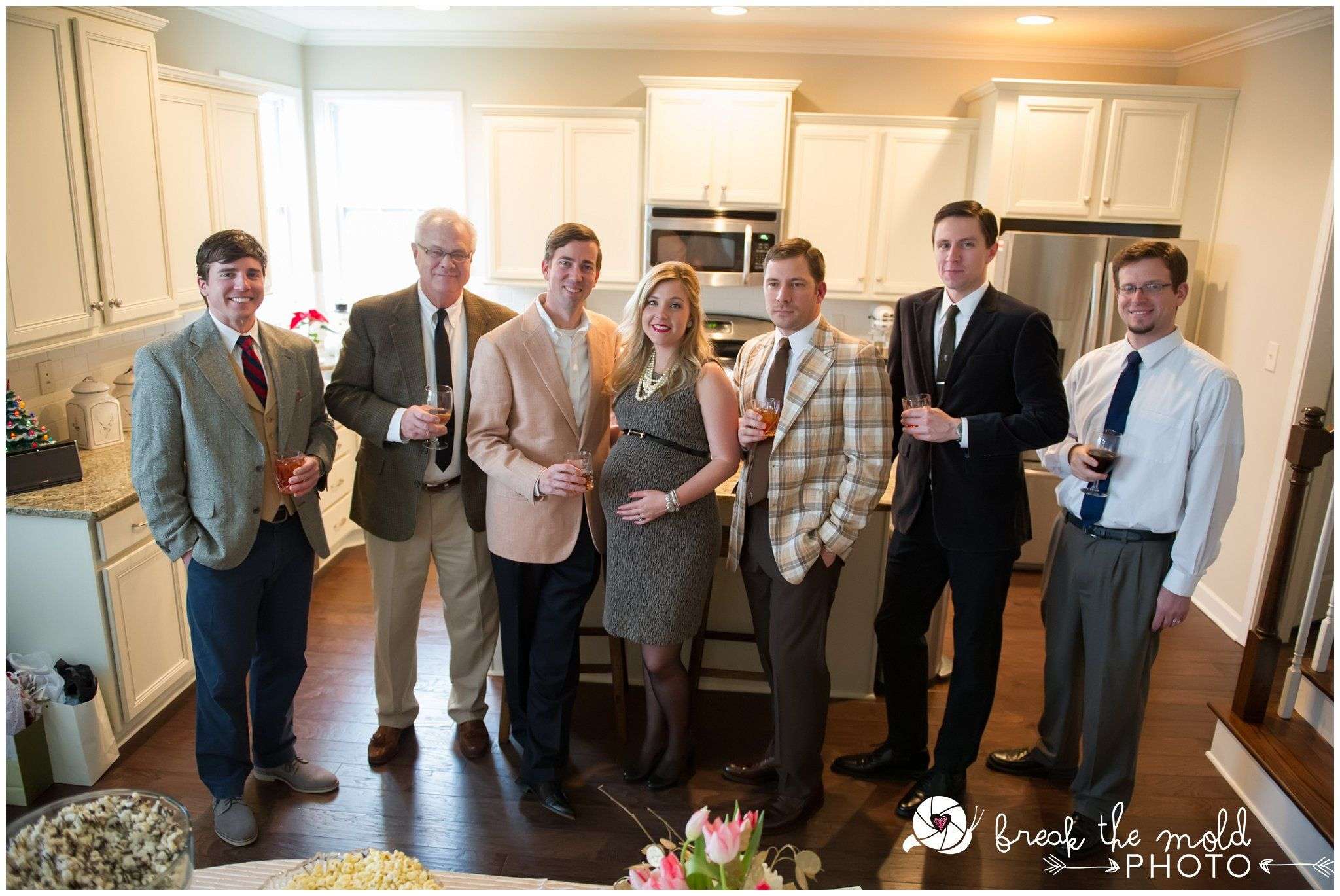 A Mad Men Baby Shower dressed in the style of 1960 s mad men