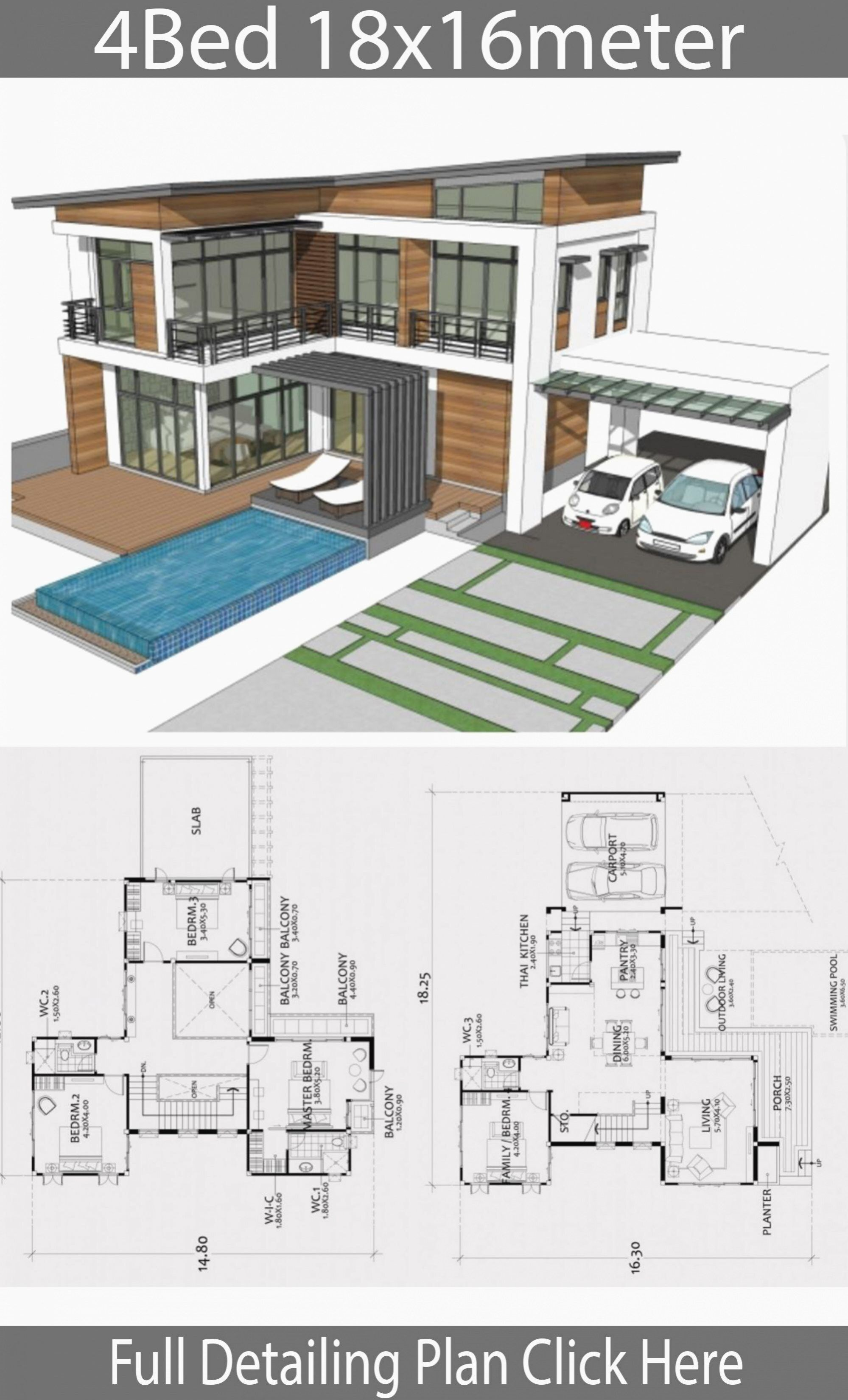 Home Design Plan Xm With 4 Bedrooms House Plan Map Modern House Plans Modern Contemporary House Plans Model House Plan